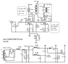 EL84 (6BQ5) Push-Pull Tube Amp Power Supply Schematic