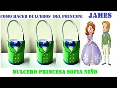 COMO HACER DULCERO PRINCESA SOFIA NÑO /PRINCIPE JAMES - YouTube