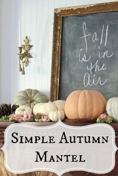 Autumn Pumpkin Mantel | eBay