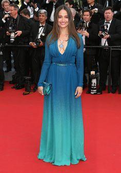Marie Gillain portait une robe Elie Saab