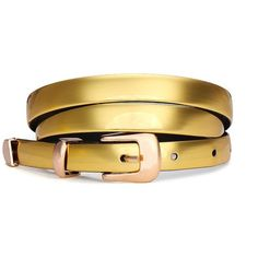 Yoins Gold Skinny Waist Belt (23 ILS) ❤ liked on Polyvore featuring accessories, belts, yoins, gold, waist belt, gold waist belt and gold belt
