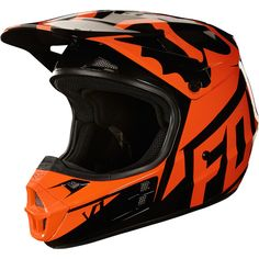 8b835559a9eb Fox Racing V-1 Race Helmet 2018 Orange