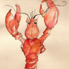 Lobster Painting by Tiffany Douzart