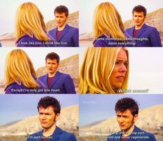 """""""I've only got one life, Rose Tyler.  I could spend it with you.. if you want."""""""