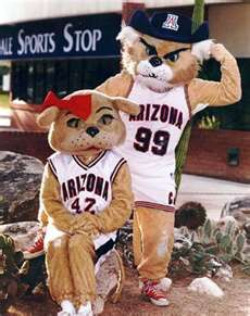 Wilbur and Wilma  University of Arizona mascots. Bear Down Arizona, Bear Down Red and Blue!!