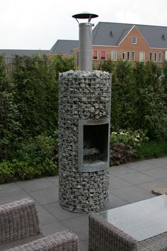 Gabion fire feature