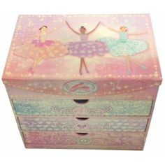 Punch Studio Ballerinas Mirror Chest Girl Bedroom Desk or Drawer Organizer * Click image to review more details. (This is an affiliate link) #KidsFurnitureDcorStorage