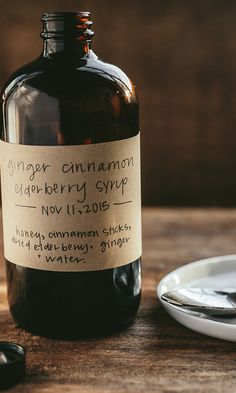 Ginger Cinnamon Elderberry Syrup Herbal syrups are simple to make and very effective. Elderberries (Sambucus nigra) are commonly used around this time of year to support immune system health.* Learn how-to on Plant Power Journal. Healing Herbs, Medicinal Herbs, Natural Healing, Natural Health Remedies, Herbal Remedies, Holistic Remedies, Natural Cures, Natural Medicine, Herbal Medicine