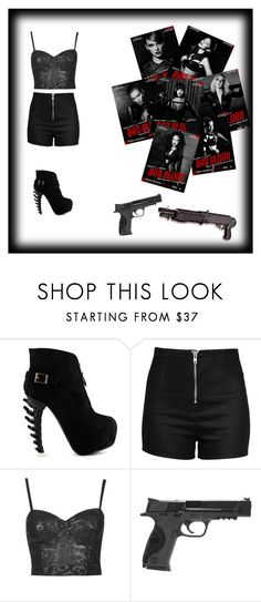 """""""Bad Blood"""" by kylie2983 ❤ liked on Polyvore featuring Love Moschino, Topshop, Chicas Fashion and Smith & Wesson"""