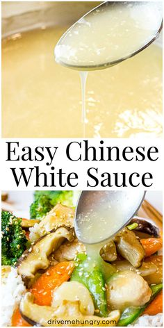 Chinese White Sauce, Chinese Sauce Recipe, Chinese Garlic Sauce, Chinese Stir Fry Sauce, Spicy Stir Fry Sauce, White Sauce Recipes, Asian White Sauce Recipe, Vegetarian Recipes, Cooking Recipes