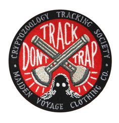 Let humans and cryptids alike know you are a friend of cryptid wildlife with our TRACK DONT TRAP patch. The design features two crossed