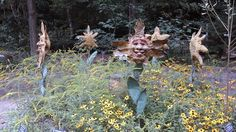 """Bouquet of Fresh Flowers"" at the North Carolina Botanical Garden Sculpture in the Garden Show"