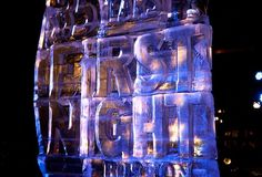 Piper & Bill attend the First Nights. Here is First Night Boston ice sculpture in Copley Square Photo courtesy of Kriswho.