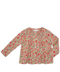 Liberty London Childrenswear Age x to x Orange Danjo Cotton Blouse | Kids | Liberty.co.uk
