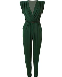 LOVE Forest Green Jersey Cross Over Bust Jumpsuit - In Love With Fashion