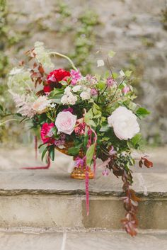 Magical floral arrangement. An Irish Midsummer Night's Wedding ✈ Part Two | Florals: A Room in Bloom. Photography: Paula O'Hara