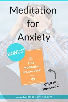 Meditation For Anxiety: 10 Exercises To Overcome Anxiety | Two Steps From Bliss | If you practice meditation, you may experience therapeutic benefits that you need to rid yourself of anxiety, for good. These 10 exercises will help you to feel more relaxed. #twostepsfrombliss #mentalhealth #meditation Meditation For Health, Meditation For Anxiety, Power Of Meditation, Free Meditation, Meditation Benefits, Meditation For Beginners, Meditation Techniques, Guided Meditation, Health Anxiety