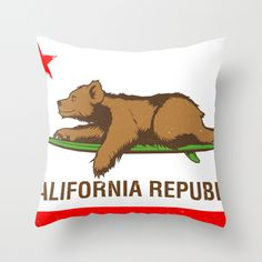CALIFORNIA SURF REPUBLIC Throw Pillow