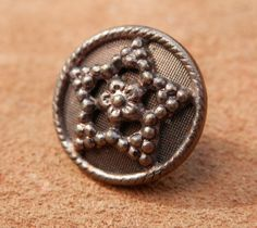 Vintage Metal Star Button by legacybuttons on Etsy