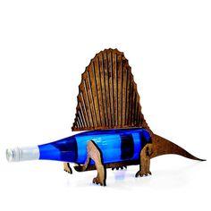 Dimetrodon porte-bouteilles de vin-O-Saur dinosaure en bois