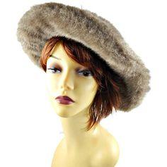 77f2fd624b415 Faux Fur Hat Tan with Wide Floppy Brim Floppy by Sandra New York