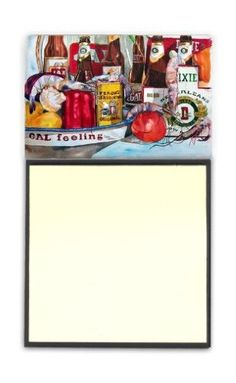 Veron's and New Orleans Beers Refiillable Sticky Note Holder or Postit Note Dispenser 1010SN, Multi