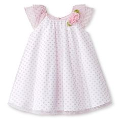 Toddler Girls' Polka Dots Sun Dress Pink - Cherokee®