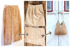 refashioned slouchy leather tote by kojodesigns