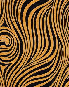 Papel pintado con patrón a rayas de cebra en amarillo oro