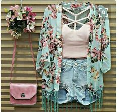 Cute Summer Outfits, Cute Casual Outfits, Short Outfits, Outfits For Teens, Spring Outfits, Girl Outfits, Fashion Outfits, Cute Fashion, Boho Fashion