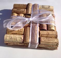 Wine Cork Trivets Set of 2 Wine Cork Crafts, Hot Pad by azwinegroup for $12.00