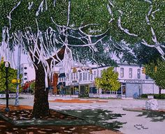 Toomers Corner Sepia Made from the Original Watercolor by Michael Joe Moore Wedding Rings Online, Low Cost Wedding, Inexpensive Wedding Venues, Original Art, My Arts, Things To Come, The Originals, Artwork, Corner