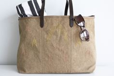 DIY: ikat inspired beach bag by Anamu, via Flickr