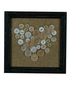 Take a look at this Button Heart Framed Art by Primitives by Kathy on #zulily today!
