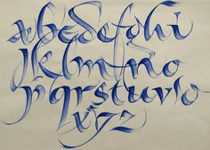 wonderful qi in your calligraphy strokes - calligraphy alphabet by rainer wiebe…