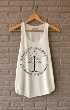 The Ring Signature White Tree of Gondor Shirt The Lord of The Ring Shirts Tank Top  Women Size S M L