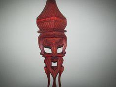 OOAK Hand Carved Wooden Mask International Art