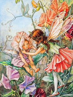 Flower Fairies: Sweet Pea Fairy (300 Large Piece Puzzle by NYPC)