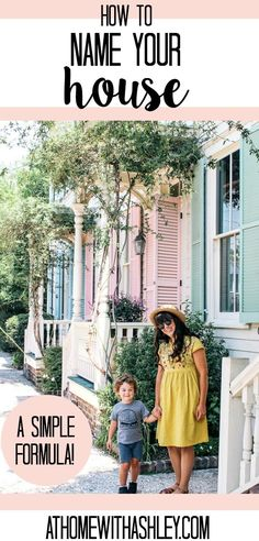 How to name your house. Does Your House Have a Name Here are some suggestions with an easy to formula and ideas. Plus a cute sign for your house inspired by Fixer Upper. House Name Signs, House Names, Cottage Names, Airbnb House, Budget Home Decorating, Decorating Ideas, Cute Signs, Cozy Room, E Design