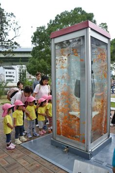Goldfish Phone booth Tank by Kingyobu in Japan #awesome #want