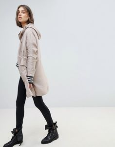 AllSaints | AllSaints Oversized Luxe Parka Jacket