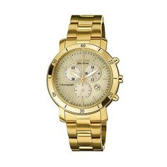Drive from Citizen Eco-Drive Gold Tone Stainless Steel Chronograph Watch - FB1342-56P - Women