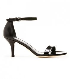 Stuart Weitzman Nunaked Sandals in Black // Black heels with an ankle strap