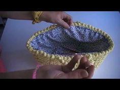 ¡¡ Como forrar capazo de trapillo paso a paso !! / To line a basket of Trapillo step by step . - YouTube