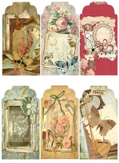 "24 ""Spring "" 06 Scrapbook Paper Crafts Hang Gift Tags | eBay"