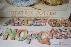 Easter –  Classic Peter Rabbit Letter – Beatrix Potter Alphabet – A to Z – Name Plaque – Wooden Name Letter – Pre School Letters