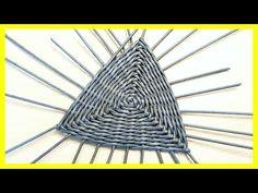 Как сплести треугольное дно из газетных трубочек! Подробный МК! | oblacco