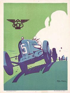 Geo Ham 1930s Racing Poster