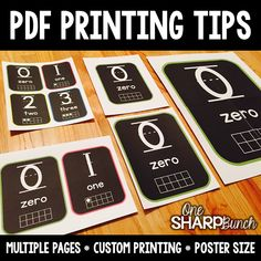 Tons of PDF printing tips!  Learn how to print multiple pages per sheet, how to scale down pages, and even how to print poster size... all from the same PDF!