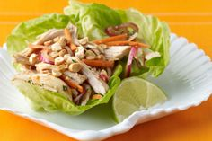 Try this lettuce wrap recipe that is bursting with Thai-flavor made with tender and delicious JENNIE-O® OVEN READY™ Turkey. Asian Turkey Lettuce Wraps, Thai Lettuce Wraps, Lettuce Wrap Recipes, Turkey Wraps, Healthy Wraps, Healthy Menu, Healthy Eating, Healthy Recipes, New Recipes